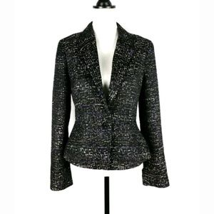 Ann Taylor tweed button front blazer